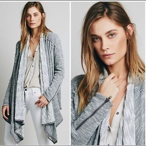Free people gray in the loop open front cardigan S